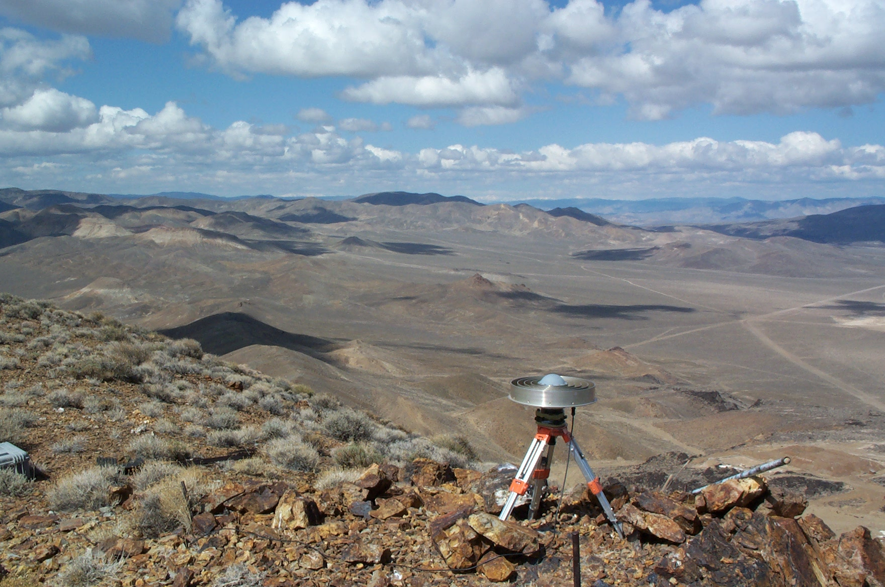 GPS Station CAND. Located at the Candaleria silver mine near Mina, Nevada.