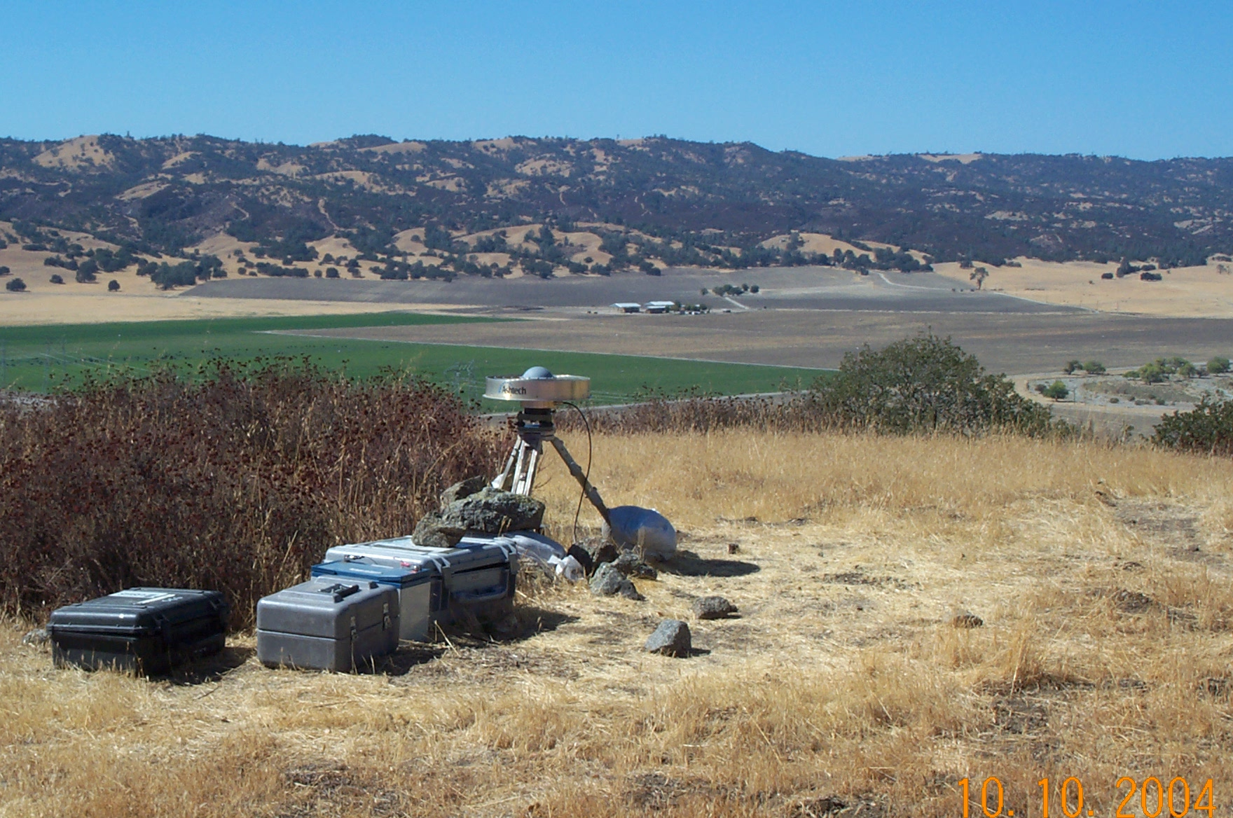 GPS station GO42. Located on Gold Hill near Parkfield, California.