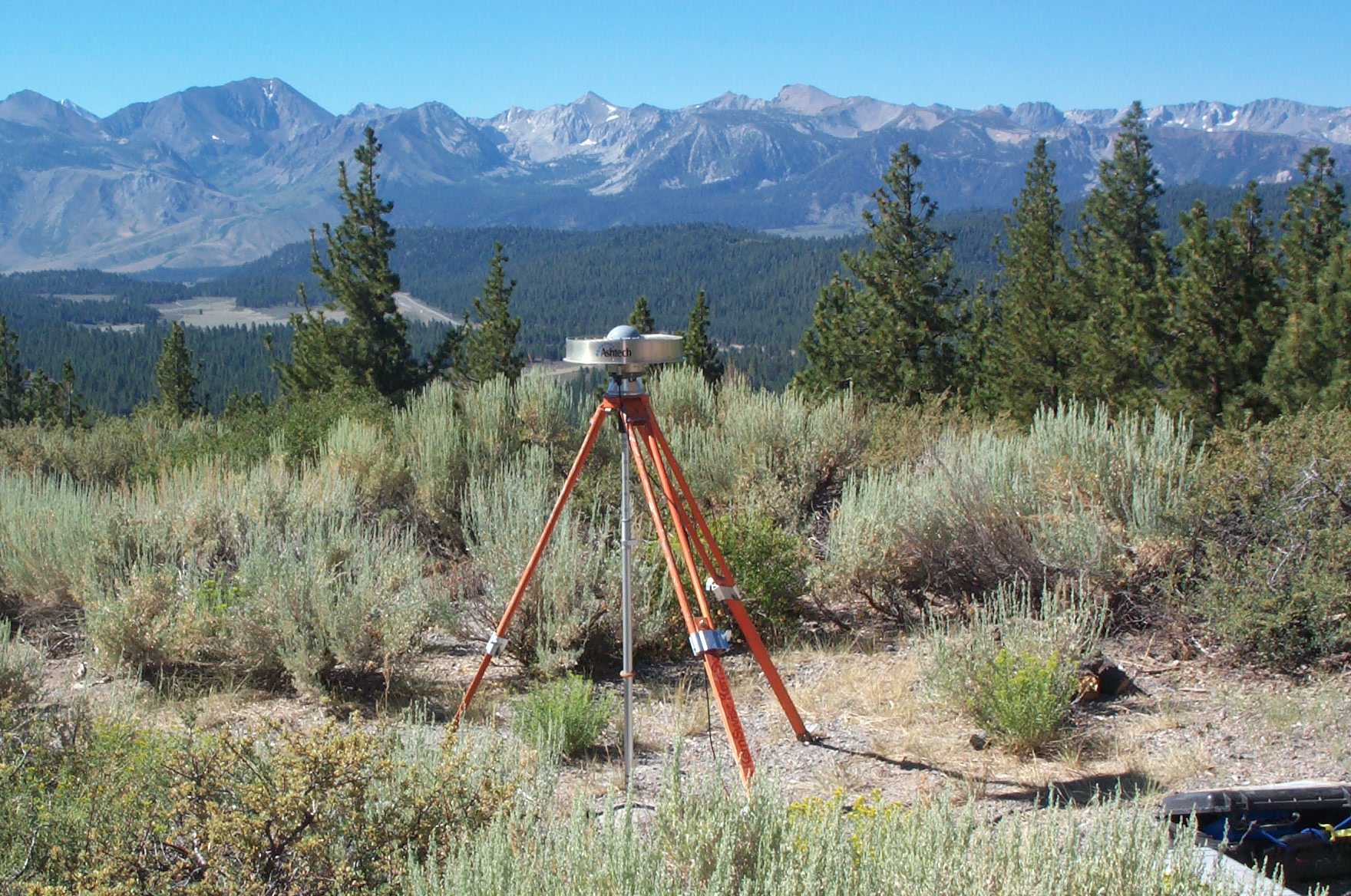 GPS station LKMT. Located on Lookout Mountain near Mammoth Lakes, California.